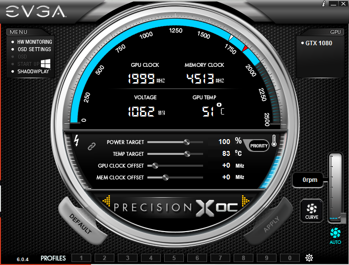 SOLVED) - EVGA 1080 Stuck at MAX GPU CLOCK when Idle on Windows 10