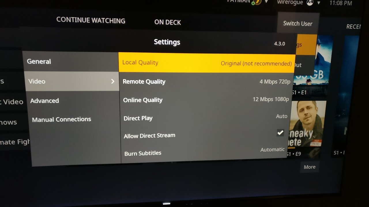 Plex Server Chokes on 4K Video | [H]ard|Forum