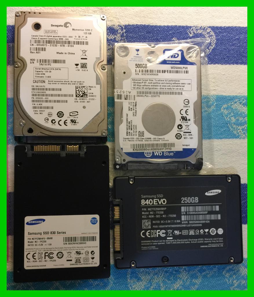 FS: SSD 's , laptop hd 's , iphone 5s unlocked , Huawei Talkband B2