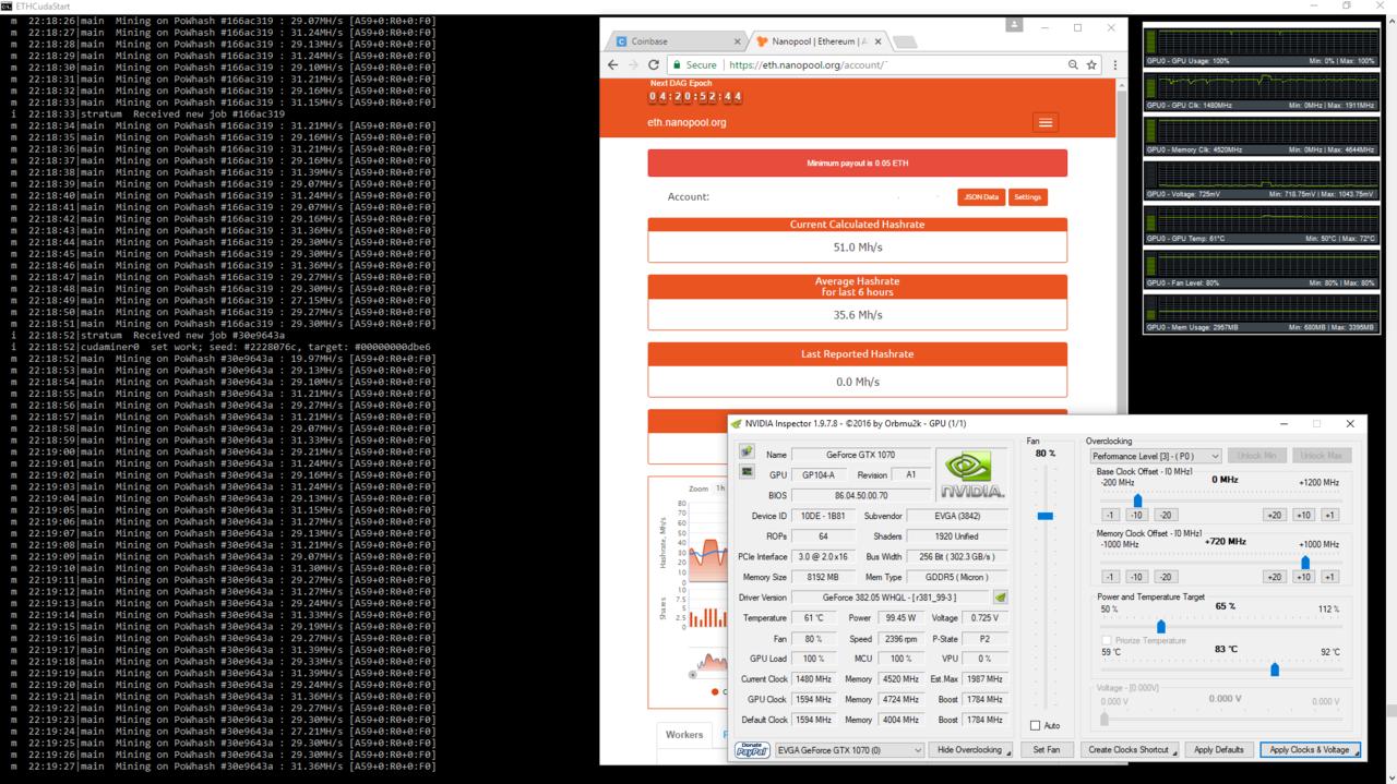 Getting more than 30 hash ETH on GTX 1070   [H]ard Forum