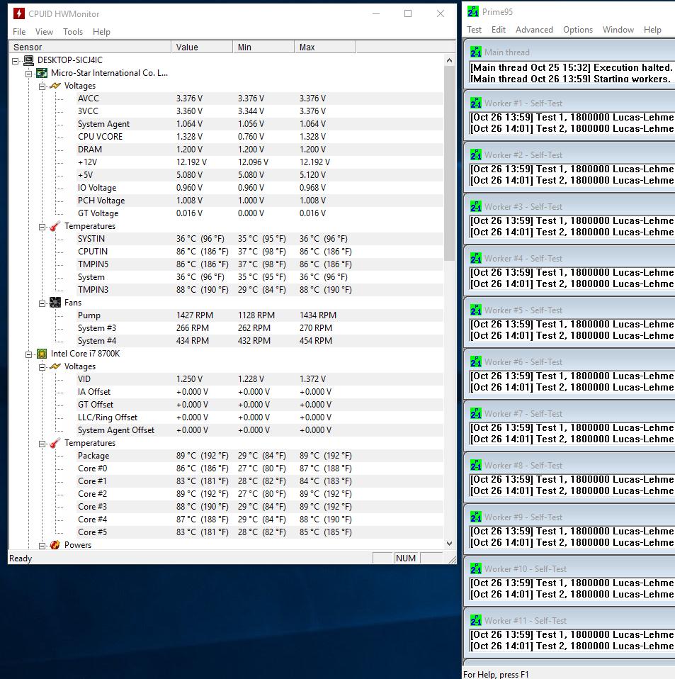 Core i7 8700k temps   [H]ard Forum