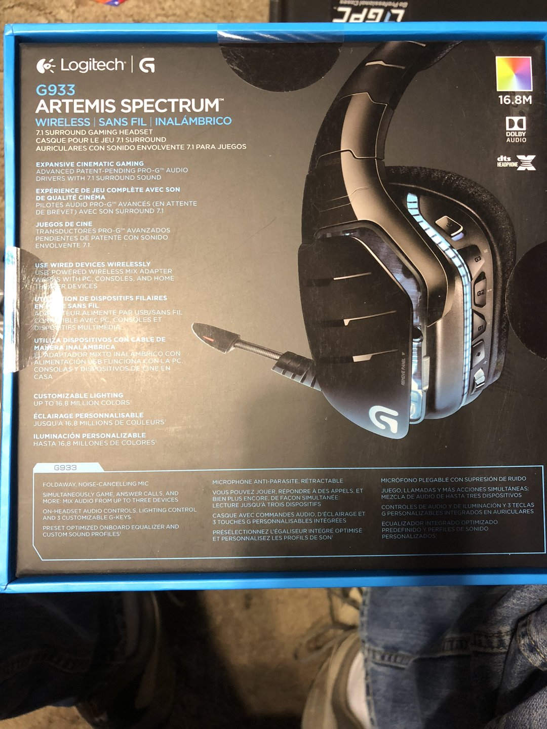 FS: Logitech - G933 Artemis Spectrum Gaming Headset - Black NIB | [H