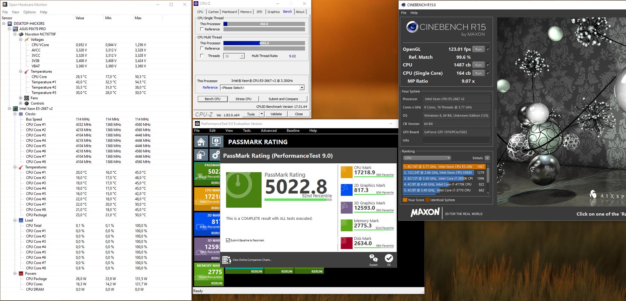 Xeon E5-2667 v2 - 4 1ghz all 8 core turbo, 4 5ghz single - 114mhz
