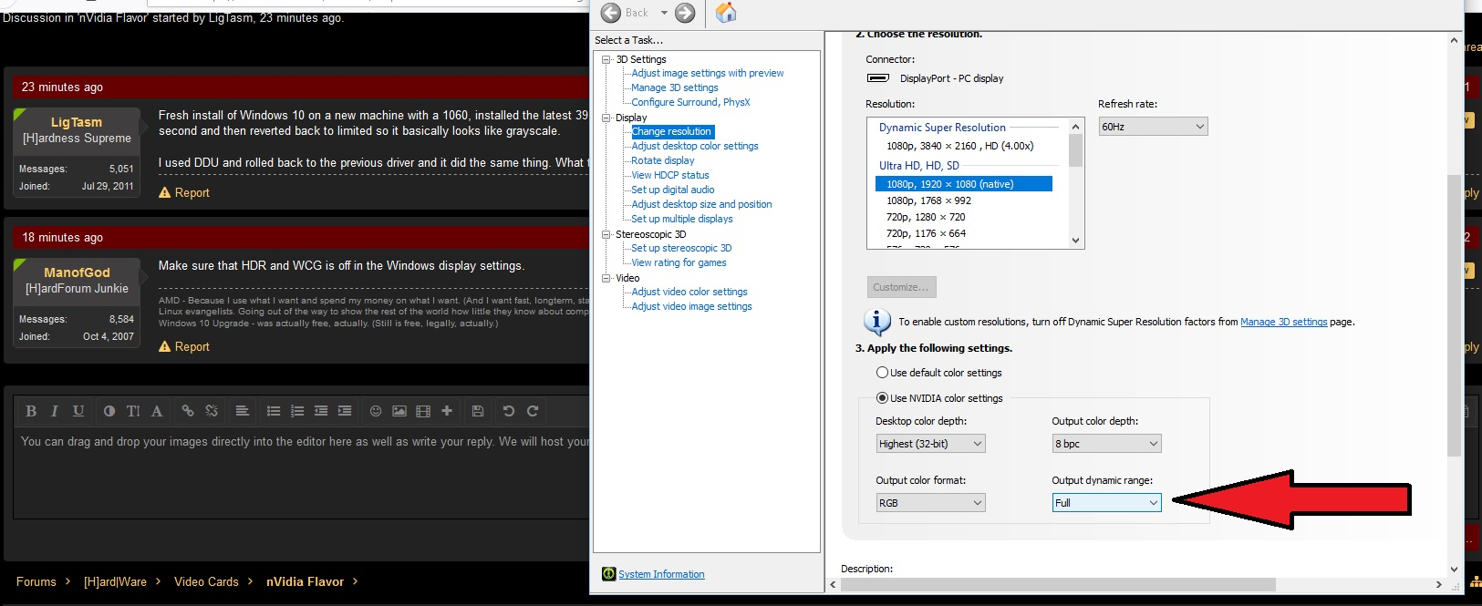 Help    Nvidia driver stuck in limited RGB   [H]ard Forum
