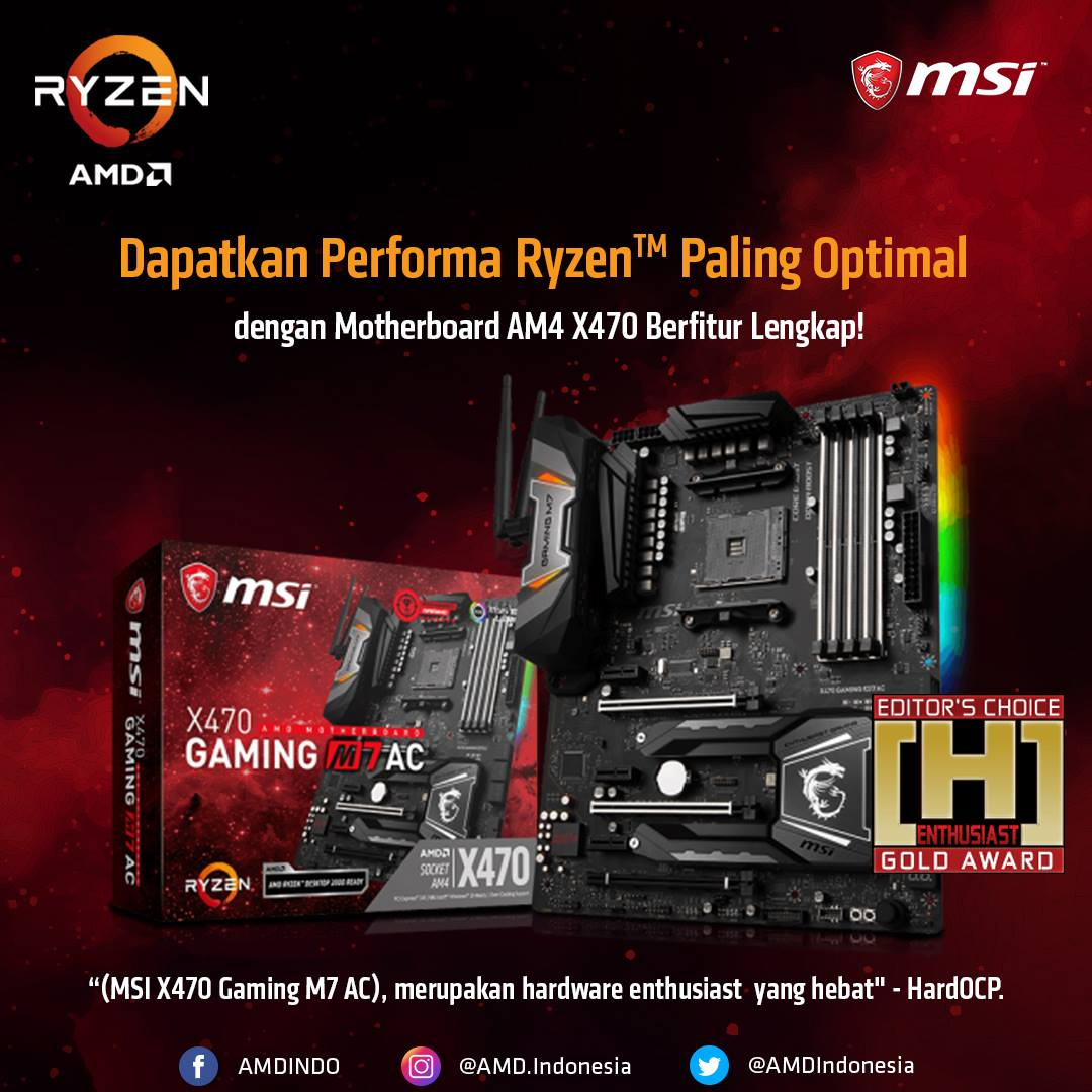 MSI X470 Gaming M7 AC AMD Ryzen Motherboard Review @ [H