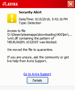 So, Avira Flagged Something in my Portal Download from Steam? | [H