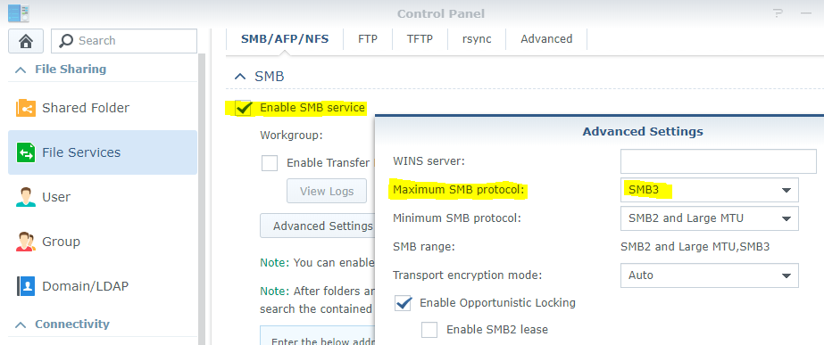 Synology users--check SMB settings | [H]ard|Forum