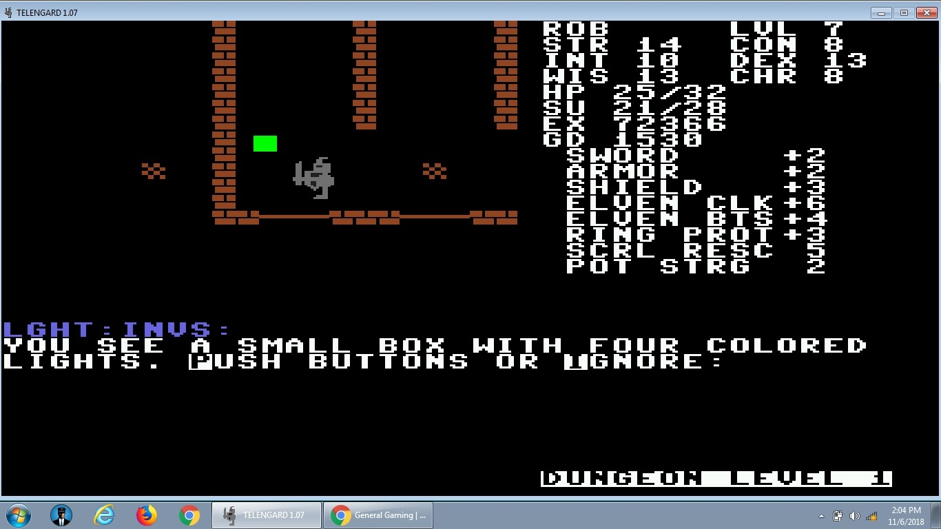 Found the DOS version of an old Commodore-64 game: Telengard! | [H