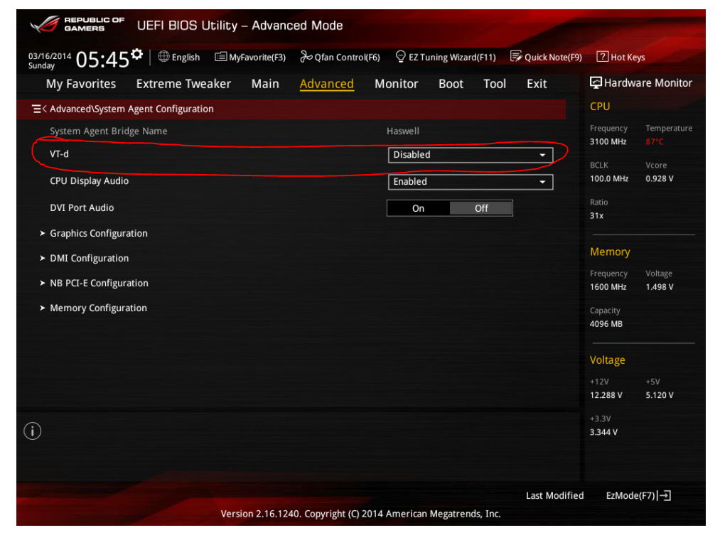 VT-d not an option on Asus Maximus vii Z97 hero board | [H]ard|Forum