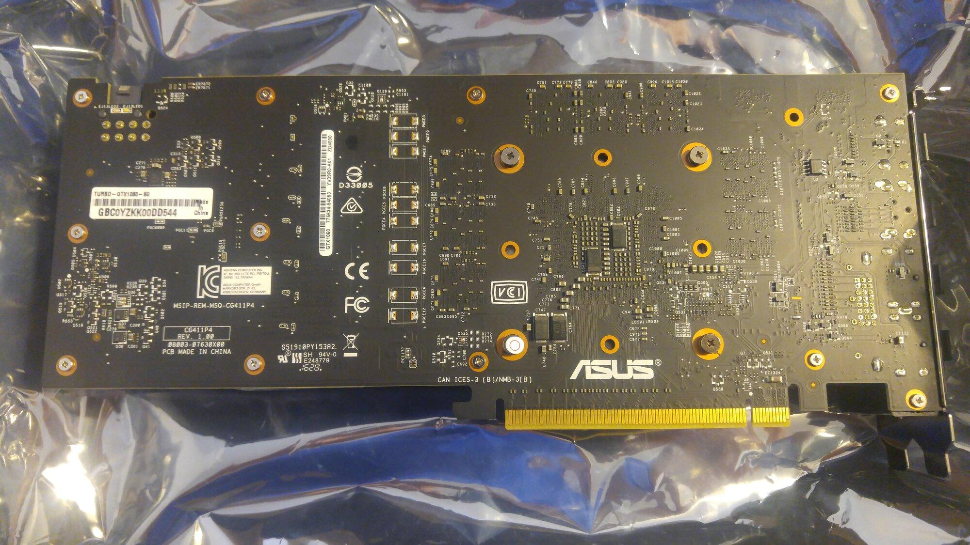 For Sale RMA new Asus GTX 1060 6GB blower style GPU / USED