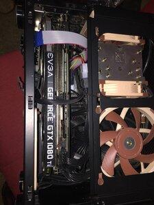 GPU installed, FW card clearance achieved.JPG