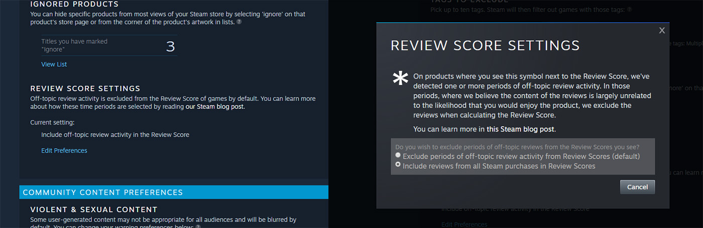 Steam truthful review setting.jpg