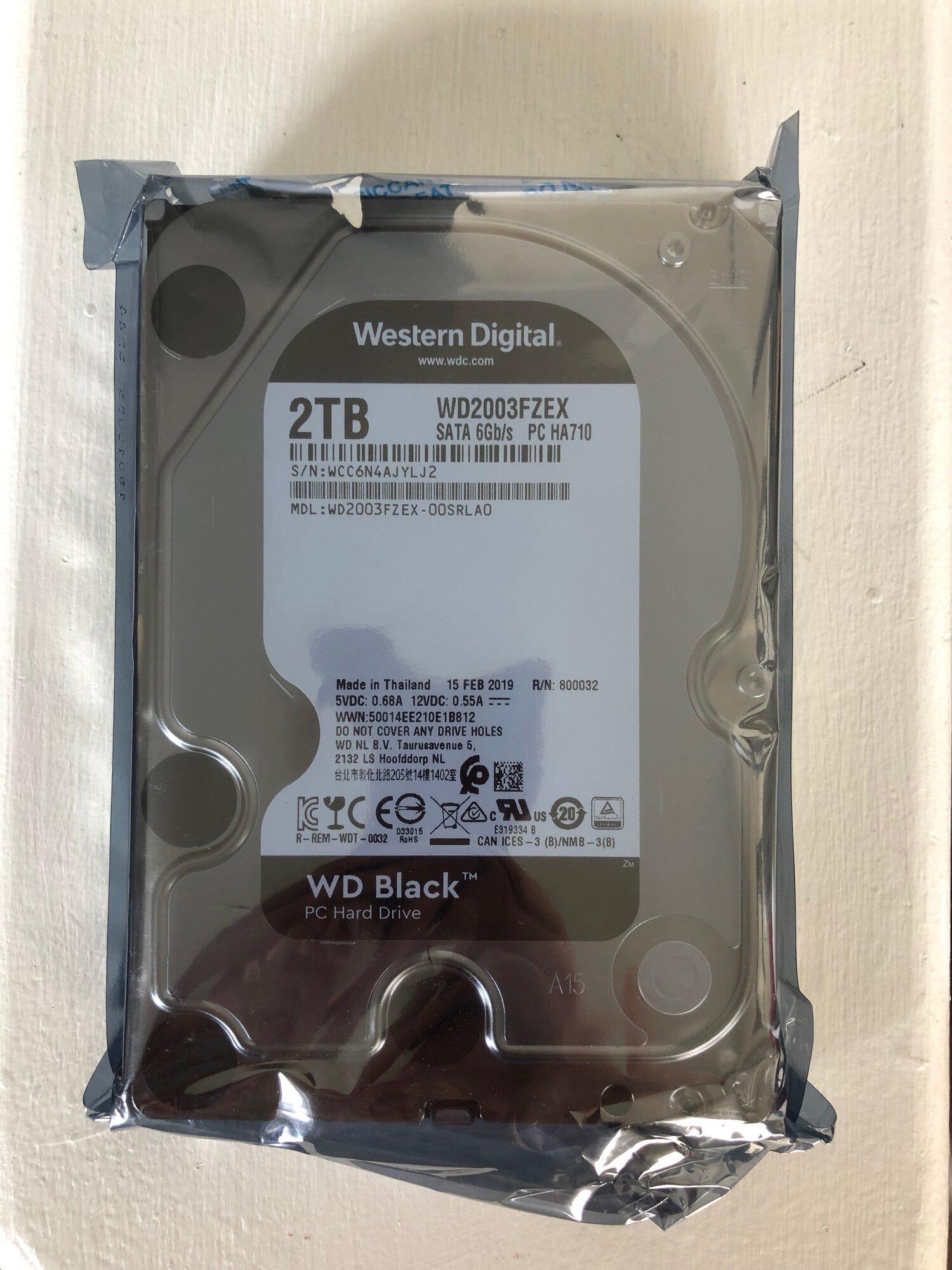 FS: BNIB 2TB Western Digital Black w/ Warranty   [H]ard Forum