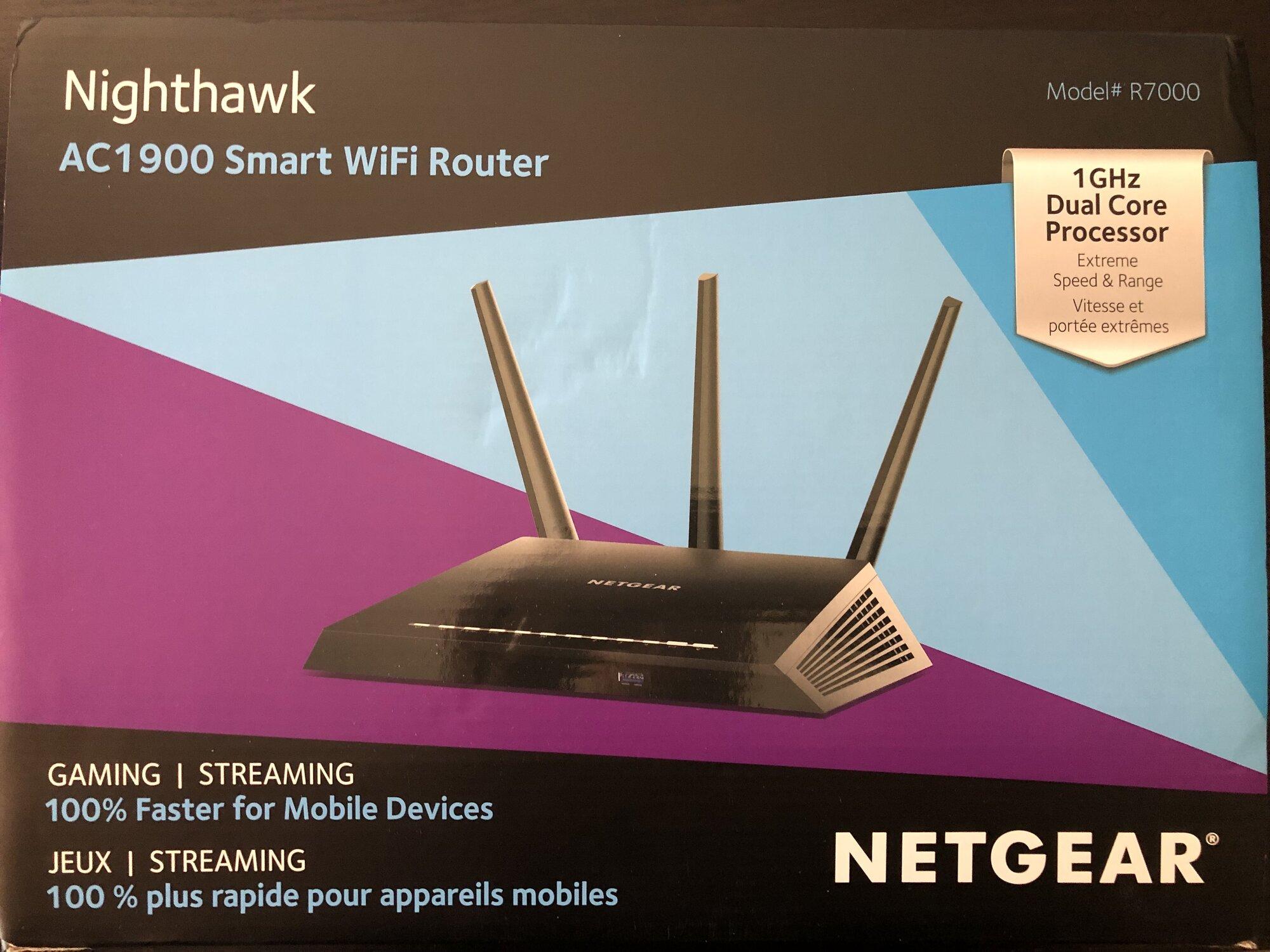 FS: Netgear Nighthawk R7000 AC1900 Wifi Router 1Ghz | [H]ard