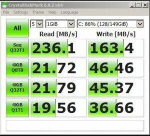 Intel 160GB SSD - SATA2 X58 P6T mobo.jpg