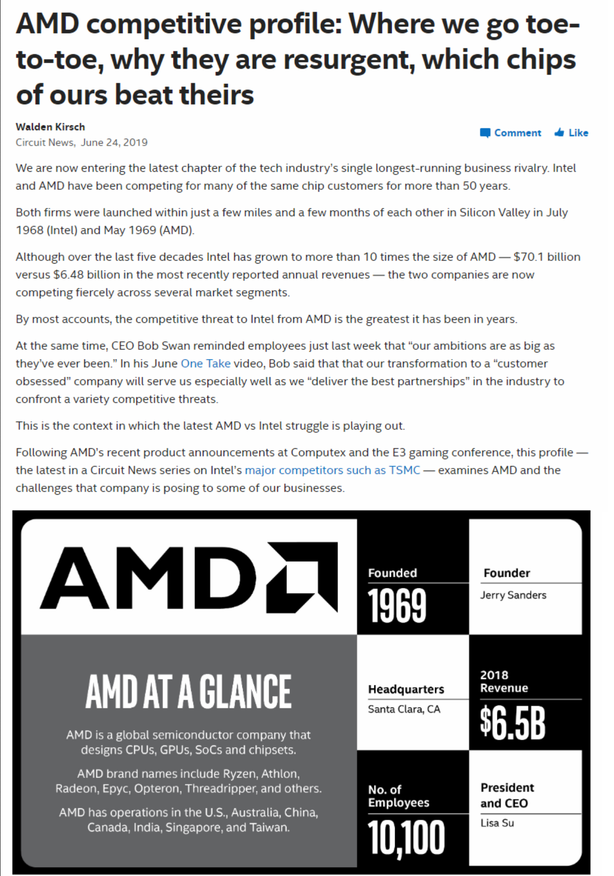 Intel Internal Document Details How It Will Counter the AMD